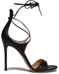 Gianvito Rossi - Antonia Lace-up Leather Sandals - Lyst