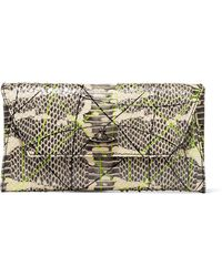 Vivienne Westwood Anglomania - Printed Snake-effect Leather Clutch - Lyst