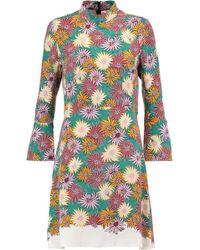 Marni - Floral-print Silk Crepe De Chine Dress - Lyst