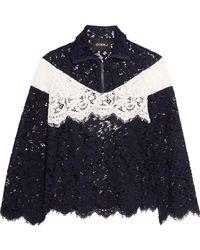 Goen.J | Color-block Cotton-blend Corded Lace Jacket | Lyst