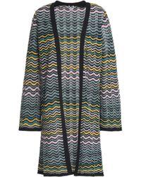 M Missoni - Woman Crochet-knit Cotton-blend Cardigan Multicolor - Lyst