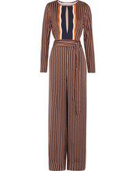 Diane von Furstenberg - Starla Printed Silk-blend Jumpsuit - Lyst