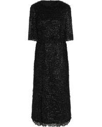 Dolce & Gabbana - Flared Midi Dress - Lyst