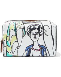 Emilio Pucci - Printed Textured-leather Cosmetics Case - Lyst