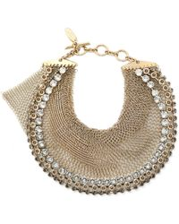 Lanvin - Gold-tone Crystal Necklace - Lyst