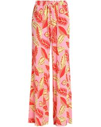 Boutique Moschino - Printed Jersey Wide-leg Trousers - Lyst