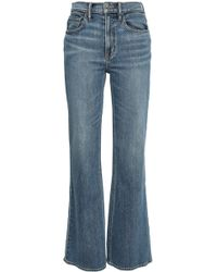 Vince High-rise Flared Jeans Mid Denim