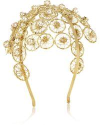 Rosantica - Ginerva Gold-dipped Pearl Headband - Lyst