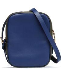 Diane von Furstenberg - Two-tone Leather Shoulder Bag Army Green - Lyst