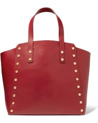 Sandro - Studded Leather Tote - Lyst