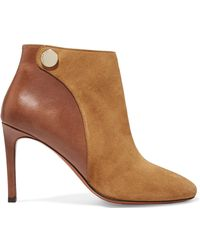 Carven - Suede And Leather Ankle Boots - Lyst