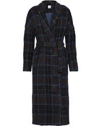 Iris & Ink - Meg Checked Bouclé-tweed Coat - Lyst
