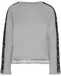 Sàpopa - City Embroidered French Cotton-terry Sweatshirt - Lyst