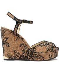 Jimmy Choo - Perla Chantilly Lace Wedge - Lyst