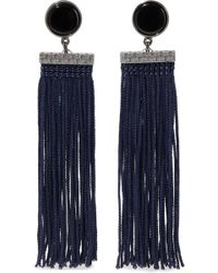 Ben-Amun - Gunmetal-tone, Resin And Tassel Earrings - Lyst