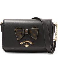 Vivienne Westwood Anglomania - Somerset Bow-embellished Leather Shoulder Bag - Lyst