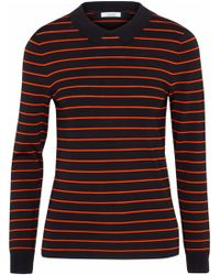 Ganni - Romilly Striped Long-sleeved Collared Top - Lyst
