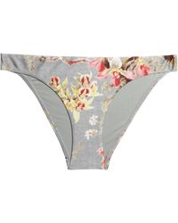 Zimmermann - Metallic Low-rise Bikini Briefs - Lyst