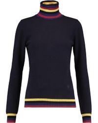 Emilio Pucci - Striped Wool, Silk And Cashmere-blend Turtleneck Jumper - Lyst