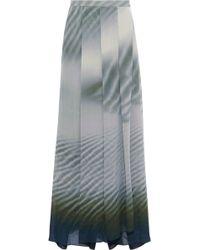 Giorgio Armani - Wrap-effect Printed Woven Maxi Skirt - Lyst