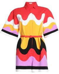 Emilio Pucci | Belted Printed Jersey Playsuit | Lyst