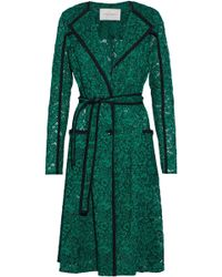 Carolina Herrera - Belted Silk-trimmed Corded Lace Jacket - Lyst