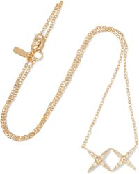 Elizabeth and James - Vida Gold-tone Crystal Necklace - Lyst
