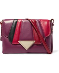 Sara battaglia Elizabeth Panelled Leather And Suede Shoulder Bag in ... 5375eaf5a2363
