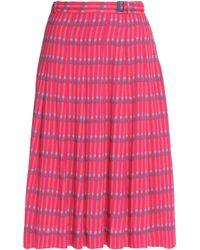 Vanessa Seward - Pleated Printed Crepe Skirt - Lyst