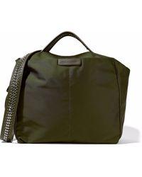 Stella McCartney Woman Shell Shoulder Bag Army Green