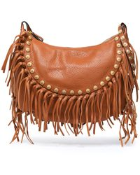 Valentino - Fringe-trimmed Leather Shoulder Bag - Lyst