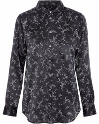 Equipment - Slim Signature Cactus Print Silk Shirt - Lyst