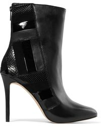 MICHAEL Michael Kors - Panelled Leather Ankle Boots - Lyst