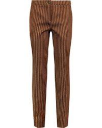 Etro - Jacquard Slim-leg Trousers - Lyst