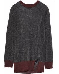 Zoe Karssen - Two-tone Metallic Stretch-knit Top - Lyst