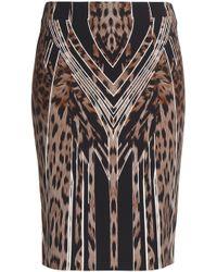 Roberto Cavalli - Leopard-print Crepe Skirt Animal Print - Lyst