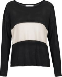 Kain - Mata Two-tone Stretch-knit Sweater - Lyst