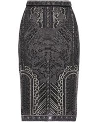 Notte by Marchesa - Embellished Tulle Pencil Skirt - Lyst