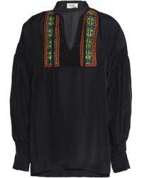 Etro - Embellished Silk Blouse - Lyst