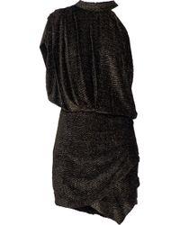 IRO - Clem One-shoulder Metallic Devoré-chiffon Mini Dress - Lyst