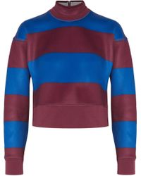 Adidas By Stella McCartney   Run Striped Neoprene Sweater   Lyst