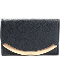 See By Chloé - Embellished Textured-leather Cardholder Midnight Blue - Lyst
