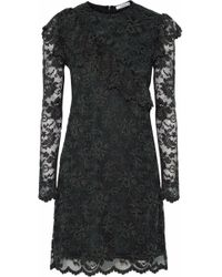 Ganni - Flynn Lace Mini Dress - Lyst