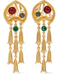 Ben-Amun - 24-karat Gold-plated Stone Clip Earrings Gold - Lyst