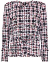 Balmain - Frayed Tweed Jacket - Lyst