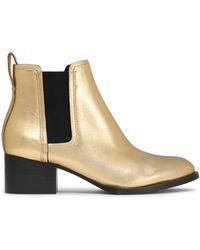 Rag & Bone - Metallic Leather Ankle Boots - Lyst