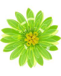 Issa - Dahlia Neon Acrylic Flower Brooch Bright Green - Lyst