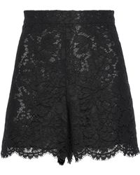 Valentino - Scalloped Cotton-blend Corded Lace Shorts - Lyst