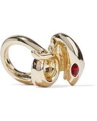 Kenneth Jay Lane - Gold-tone Crystal Ring - Lyst