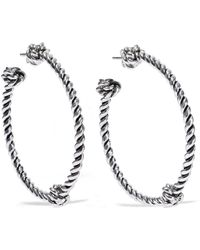Aurelie Bidermann - Palazzo Silver-tone Hoop Earrings - Lyst